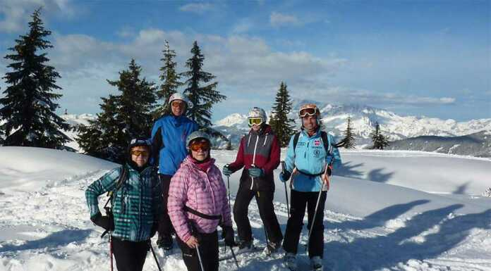 Die Skiabteilung des TV Sinzig war über Silvester mitten im Wagrainer Skigebiet.