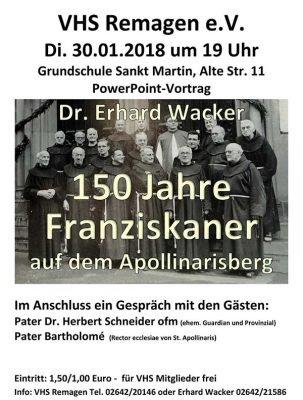 150 Jahre Franziskaner auf dem Apollinarisberg @ St. Martin Grundschule Remagen | Remagen | Rheinland-Pfalz | Deutschland