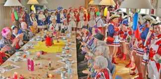 Närrische Senioren im Weißen Ross Bad Breisig - Närrische Stimmung im betreuten Wohnen
