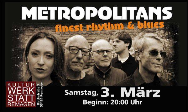 Metropolitans in der Kulturwerkstatt @ Kulturwerkstatt Remagen | Remagen | Rheinland-Pfalz | Deutschland