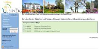 Ratsinformationssystem in Sinzig