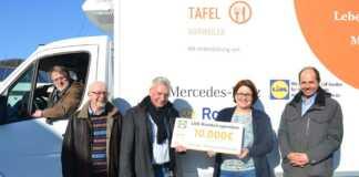 Lidl-Kunden spenden Tafel Ahrweiler 10.000 Euro