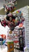 mit Helium gefüllte Folienballons