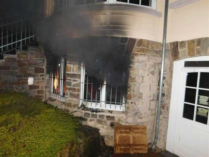 Brand im Keller einer Software-Firma