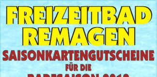 Schnäppchenverkauf für die Saisonkarten des Freizeitbades Remagen