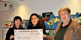 Brauhaus, Kwartier Lateng und Bau-Lüdenbach spenden 300 Euro für Tafel Ahrweiler