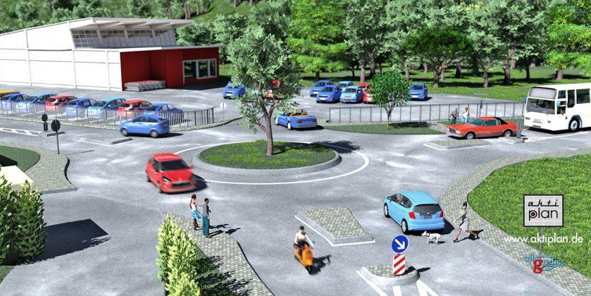 Kreisel REWE 3D Visualisierung