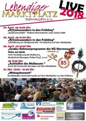 R(h)einwandern in den Frühling am 29. und 30. April 2018 in Remagen