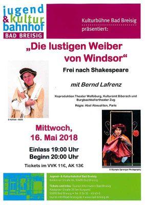 Die lustigen Weiber von Windsor @ Jugend- & Kulturbahnhof Bad Breisig | Bad Breisig | Rheinland-Pfalz | Deutschland
