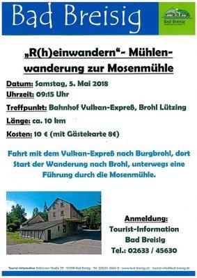 R(h)einwandern in den Frühling 2018- Mühlenwanderung zur Mosenmühle @ Brohltalbahn | Brohl-Lützing | Rheinland-Pfalz | Deutschland