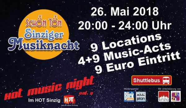 SchönTön - Sinziger Musiknacht 2018 @ Sinzig | Sinzig | Rheinland-Pfalz | Deutschland