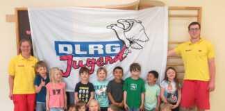 Die DLRG kommt zu den Vorschulkindern in die Kita Goethe-Knirpse