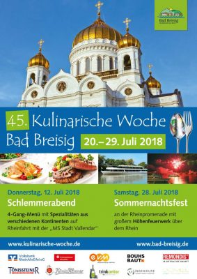 Kulinarische Woche 2018 am 12. Juli @ Bad Breisig | Bad Breisig | Rheinland-Pfalz | Deutschland