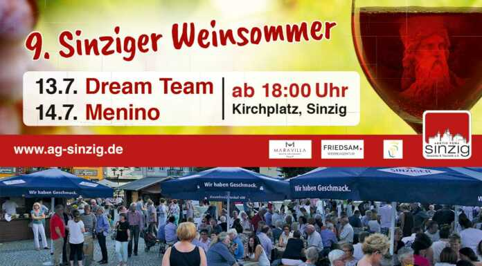 Sinziger Weinsommer 2018 Vorschau