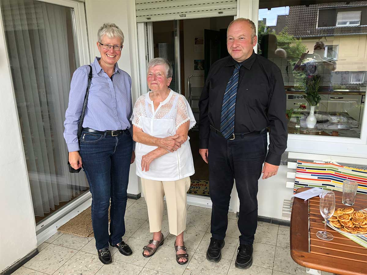 Ihren 90. Geburtstag feierte Frau Erika Zimmermann