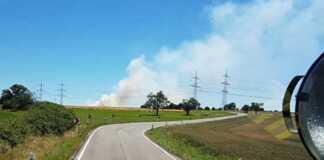Brandgefahr in der Rheinmeile
