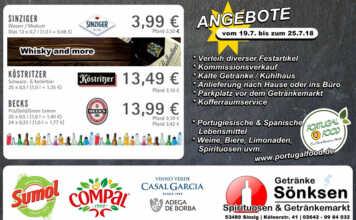 Angebote bei Getränke Sönksen KW 29/30