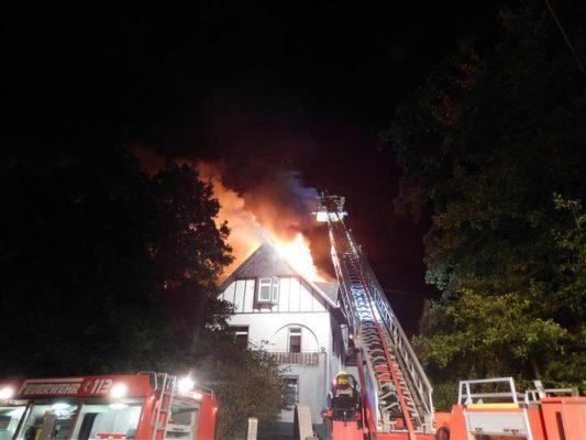 Bad Breisig - Brand eines Einfamilienhauses