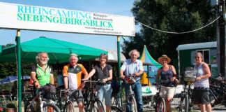 Grüne-Ratsmitglieder besuchen Rolandswerther Campingplatz