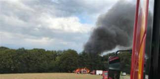 Waldbrand bei Oedingen