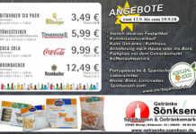 Angebote bei Getränke Sönksen 13. bis 19.9.2018