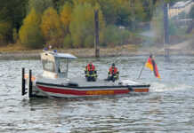 Jungfernfahrt Kleinboot M2 der Feuerwehr Kripp - der Film