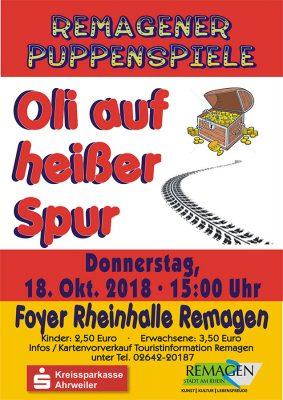 REMAGENER PUPPENSPIELE - Oli auf heißer Spur @ Rheinhalle Remagen | Remagen | Rheinland-Pfalz | Deutschland