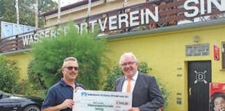 Volksbank Koblenz Mittelrhein hilft mit 500 Euro bei Renovierungen im Bootshaus