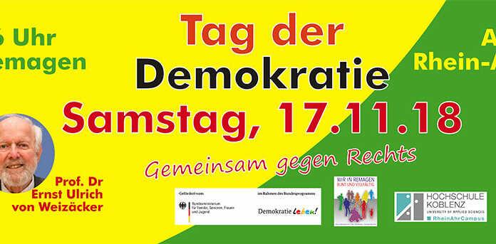 Tag der Demokratie 2018 in Remagen - Programm und Infos