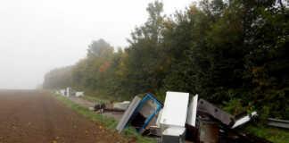 170 Tonnen Müll illegal in der Landschaft entsorgt