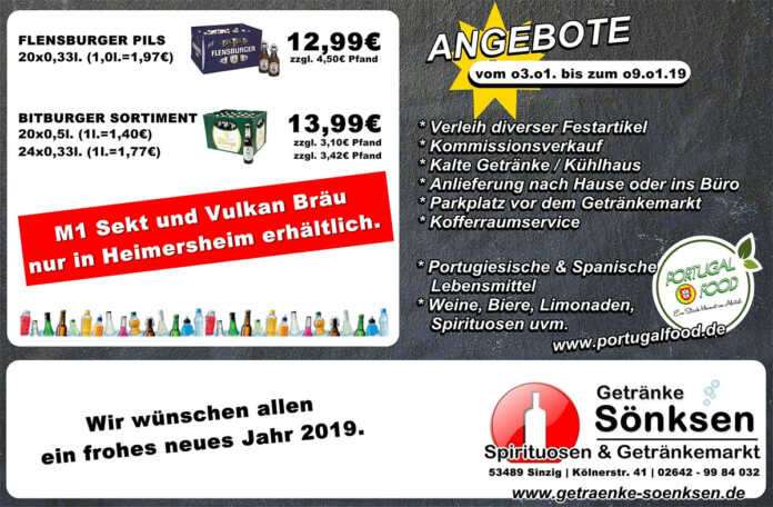 Angebote bei Grtänke Sönksen KW 1/2