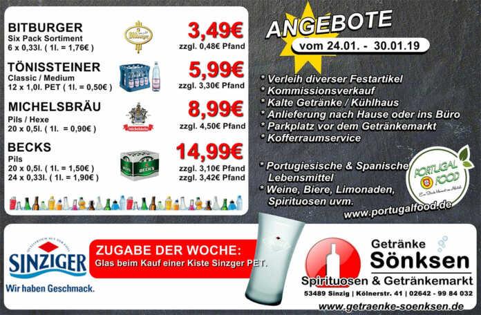 Angebote bei Getränke Sönksen KW 3/4