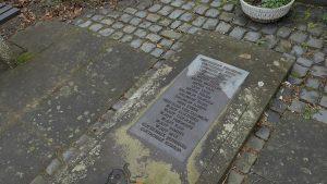 Gedfenktafel der ehemaligen Synagoge