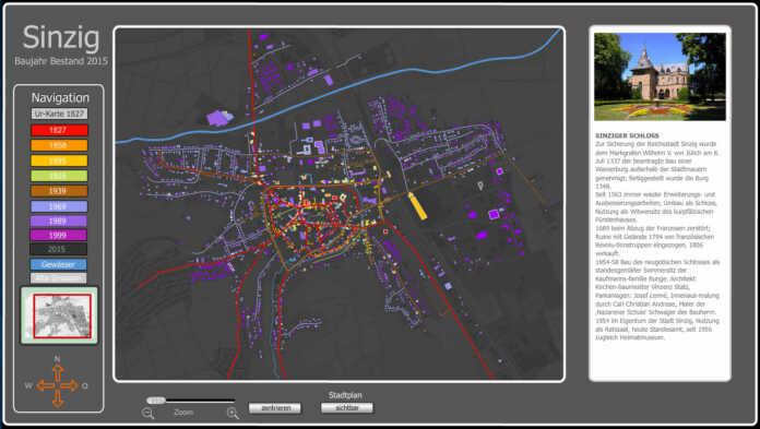Stadtentwicklung Sinzig 1827 bis 2015 als interaktive Anwendung