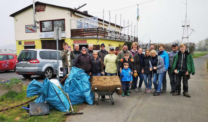 WSV Sinzig beteiligt sich mit großer Resonanz am Dreck-weg-Tag