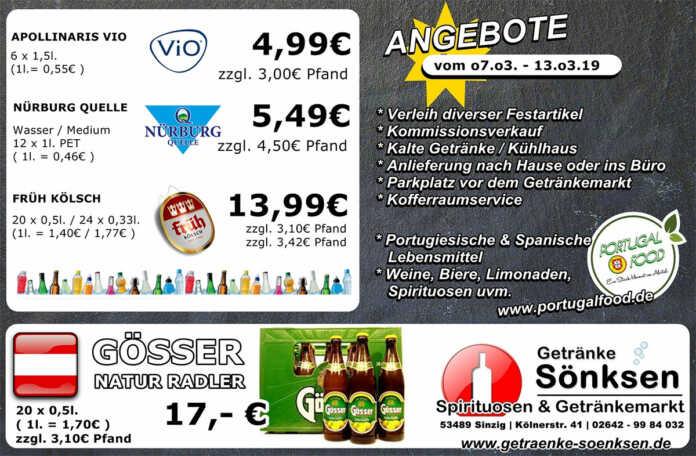 Angebote bei Getränke Sönksen KW 10/11