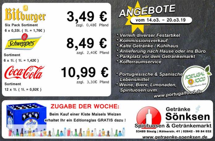Angebote bei Getränke Sönksen KW 11/12