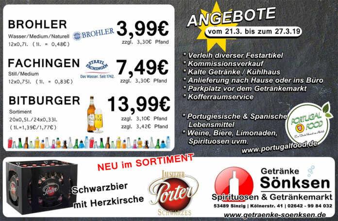 Angebote bei Getränke Sönksen KW 12/13