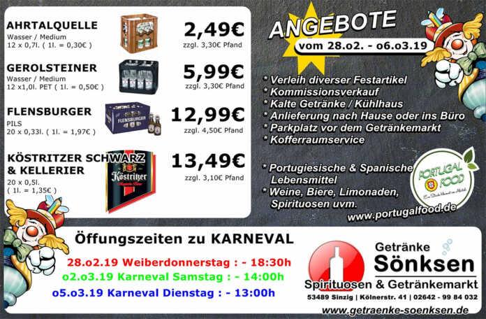 Angebote bei Getränke Sönksen KW 9/10