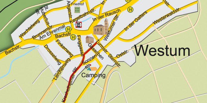 Ortsbegehung Westum mit Ortsvorsteherkandidat Mario Wettlaufer FWG