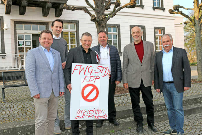 Sinziger SPD, FDP und FWG verzichten auf Straßenplakate zur Kommunalwahl