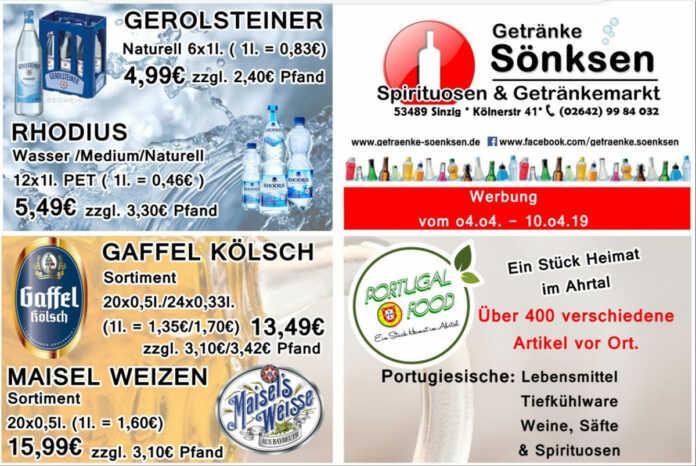 Angebote bei Getränke Sönksen KW 14/15