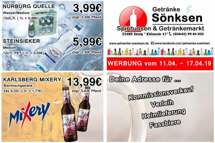 Angebote bei Getränke Sönksen KW 15/16