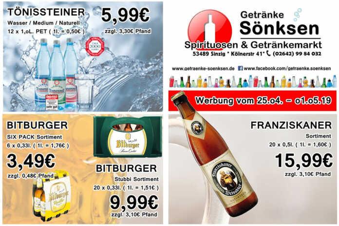 Angebote bei Getränke Sönksen KW 17/18
