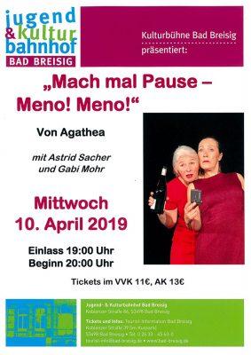 Theater Agathea und Fritz Pleitgen @ Bad Breisiger Kulturbühne | Bad Breisig | Rheinland-Pfalz | Deutschland