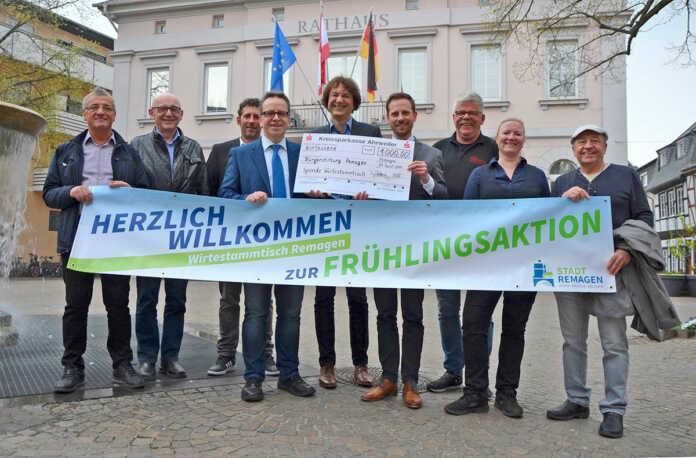 WirteStammtisch unterstützt Bürgerstiftung Remagen mit 1000 Euro