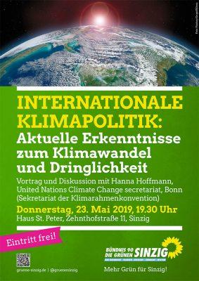Internationale Klimapolitik: Vortrag mit Diskussion @ Haus St. Peter | Sinzig | Rheinland-Pfalz | Deutschland