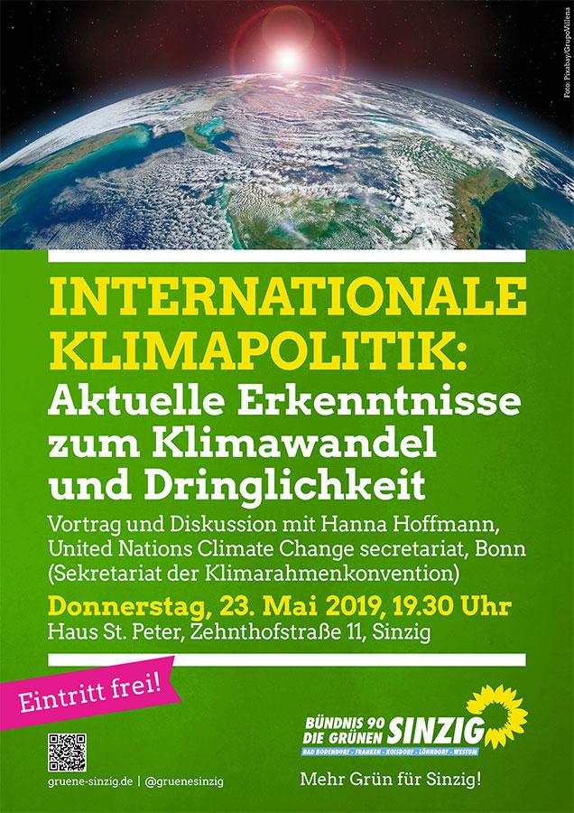 Internationale Klimapolitik: Vortrag mit Diskussion am 23. Mai in Sinzig