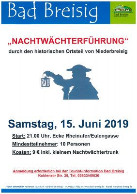 Nachtwächterführung durch Bad Breisig @ Rheinufer Bad Breisig | Bad Breisig | Rheinland-Pfalz | Deutschland