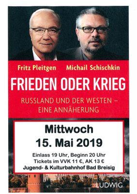 Fritz Pleitgen und Michail Schischkin @ Kulturbahnhof | Bad Breisig | Rheinland-Pfalz | Deutschland